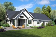 Farmhouse Exterior - Rear Elevation Plan #48-995