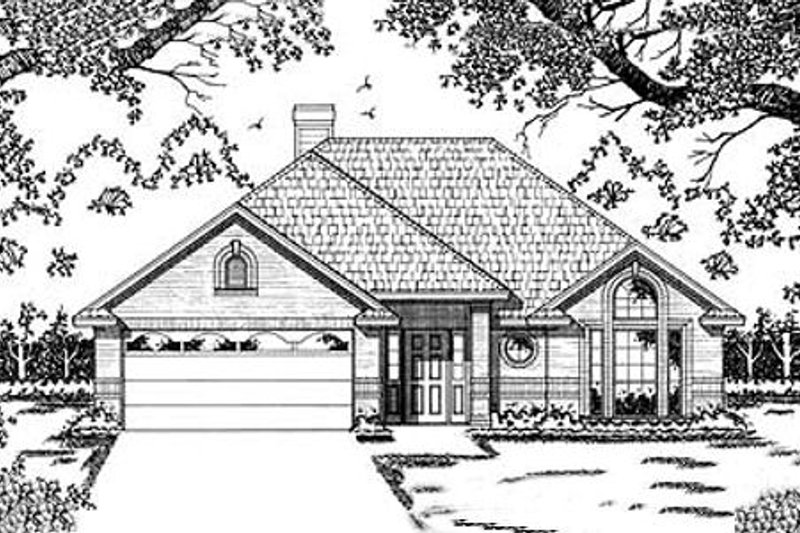 Traditional Style House Plan - 3 Beds 2 Baths 1509 Sq/Ft Plan #42-111 Exterior - Front Elevation