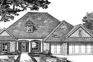Southern Exterior - Front Elevation Plan #310-242