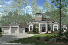 House Plan Design - Contemporary Exterior - Front Elevation Plan #930-506