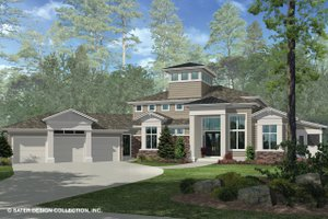 Dream House Plan - Contemporary Exterior - Front Elevation Plan #930-506