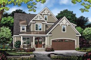 Cottage Exterior - Front Elevation Plan #929-1121
