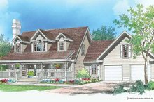 Country Exterior - Front Elevation Plan #929-196