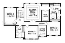 Colonial Floor Plan - Upper Floor Plan Plan #1010-167