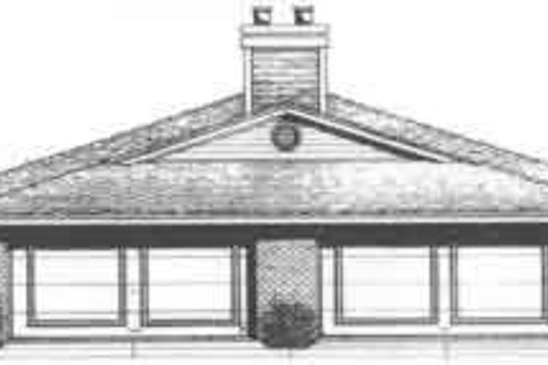 Traditional Exterior - Front Elevation Plan #310-435 - Houseplans.com