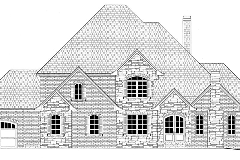 Front Elevation Of Bathtub : Country style house plan beds baths sq ft