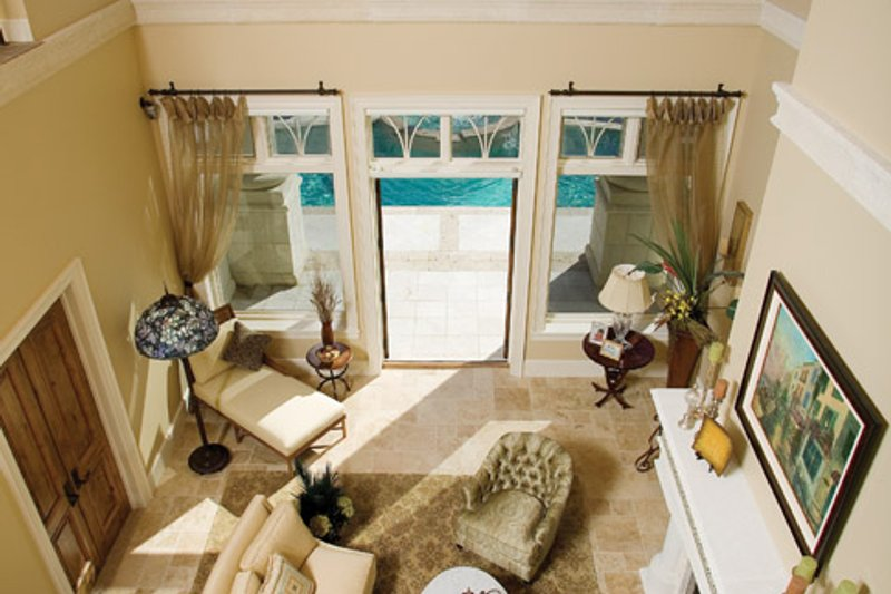 Mediterranean Interior - Family Room Plan #929-900 - Houseplans.com