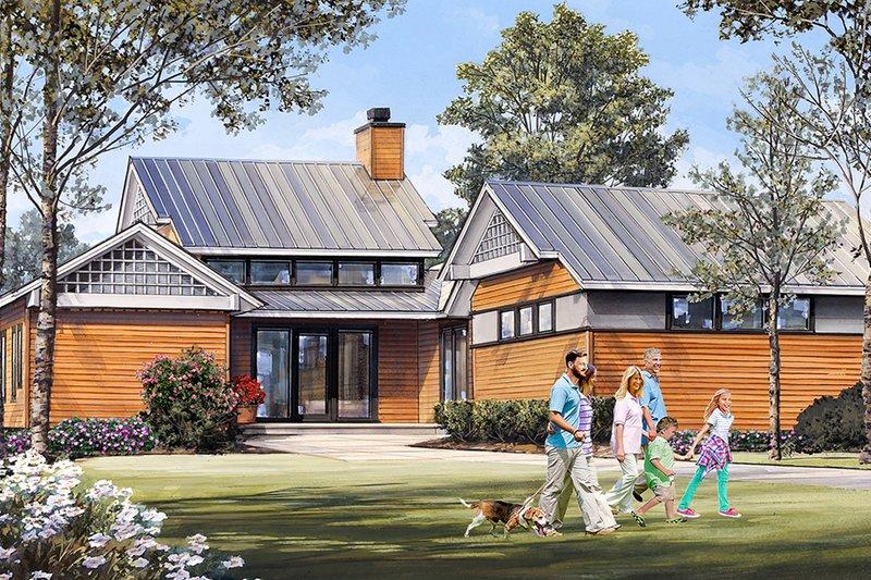 Dream House Plan - Craftsman Exterior - Front Elevation Plan #137-377