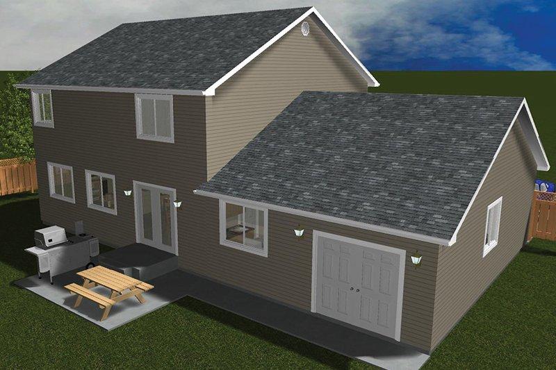 Traditional Exterior - Rear Elevation Plan #1060-33 - Houseplans.com