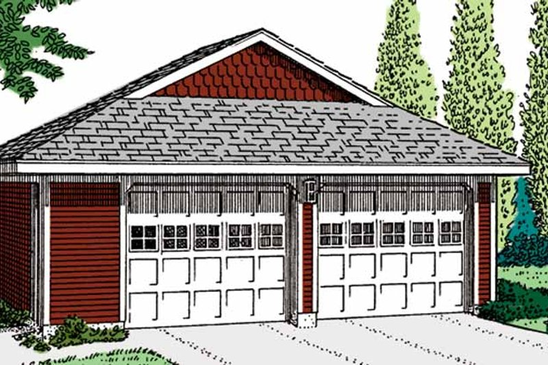 Exterior - Front Elevation Plan #410-3607