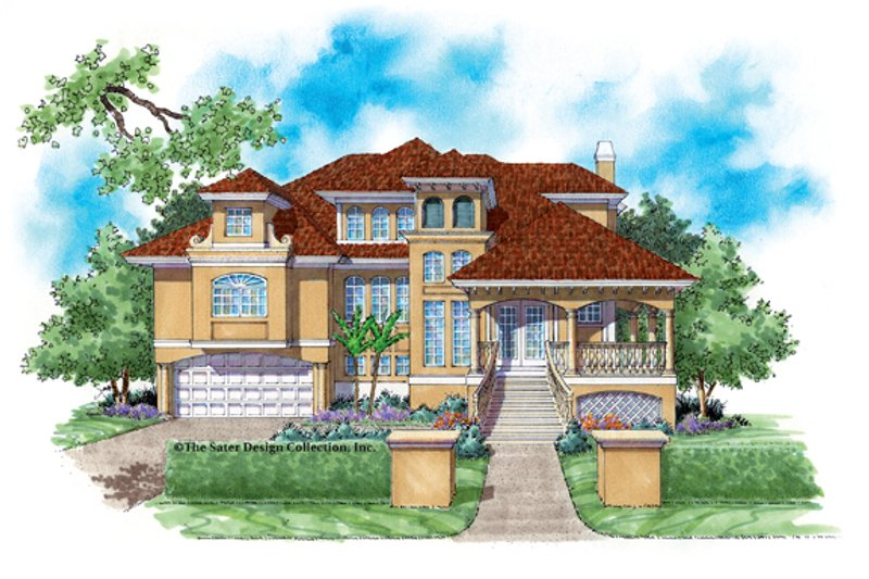 Architectural House Design - Mediterranean Exterior - Front Elevation Plan #930-112