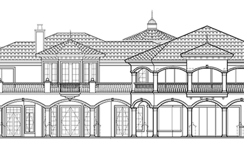 Mediterranean Exterior - Rear Elevation Plan #1017-77 - Houseplans.com