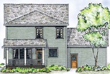 Country Exterior - Rear Elevation Plan #410-3564