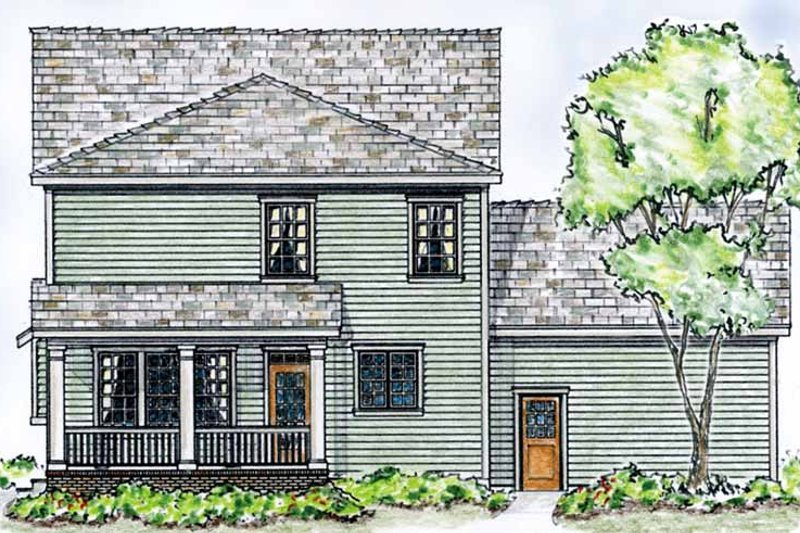 Country Exterior - Rear Elevation Plan #410-3564 - Houseplans.com