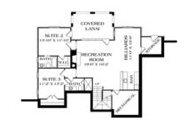 Country Floor Plan - Lower Floor Plan Plan #453-616