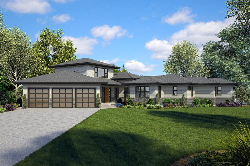 Craftsman Exterior - Front Elevation Plan #48-941