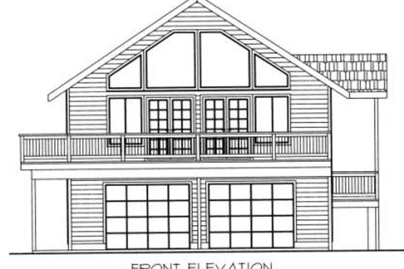 Bungalow Exterior - Other Elevation Plan #117-571 - Houseplans.com
