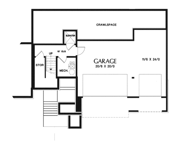 Craftsman Floor Plan - Lower Floor Plan Plan #48-913