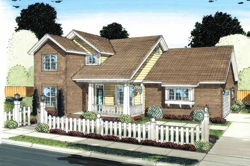 House Plan Design - Traditional Exterior - Front Elevation Plan #513-2131