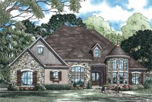 Architectural House Design - Country Exterior - Front Elevation Plan #17-3342