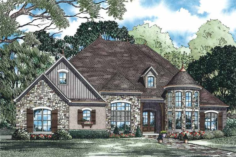Country Exterior - Front Elevation Plan #17-3342