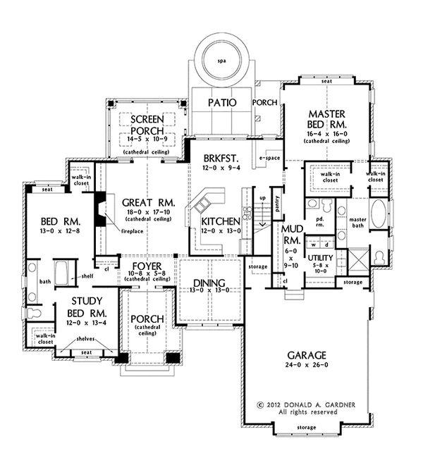 House Plan Design - European Floor Plan - Main Floor Plan #929-956