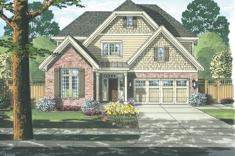 Country Exterior - Front Elevation Plan #46-818