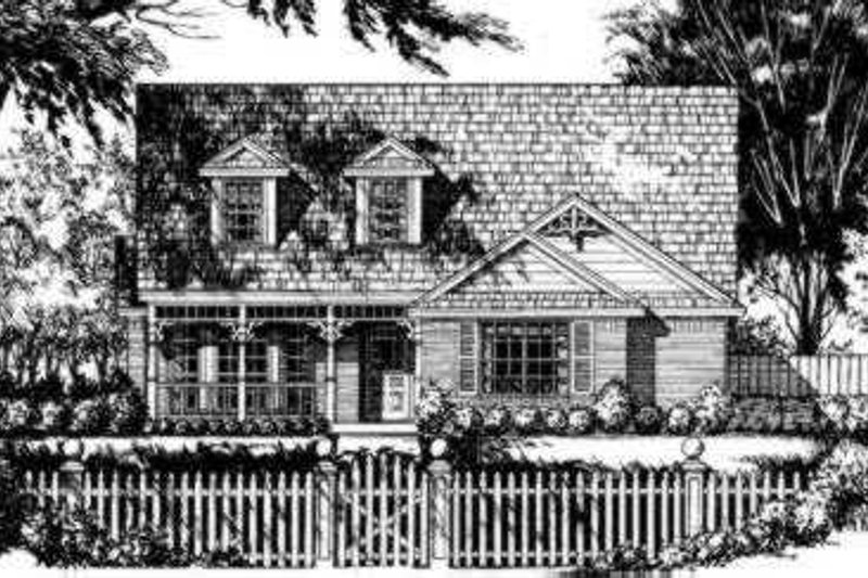 Traditional Exterior - Front Elevation Plan #40-267