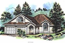 House Blueprint - Ranch Exterior - Front Elevation Plan #18-131