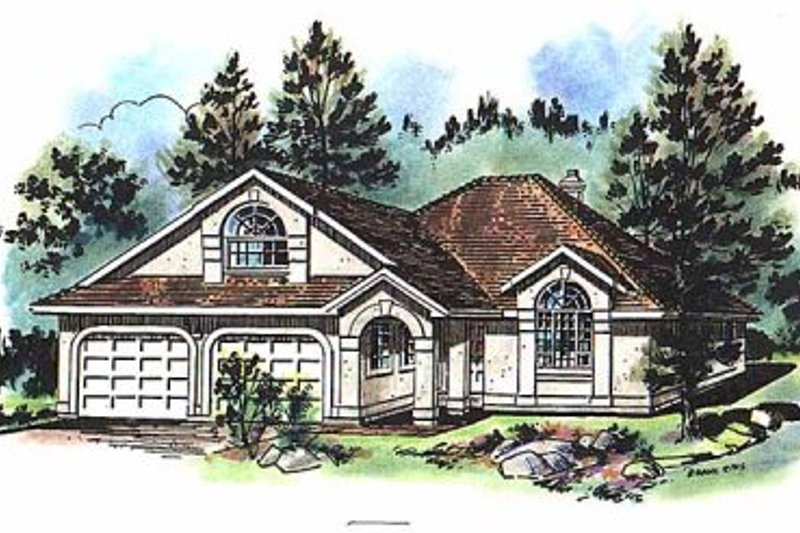 Ranch Exterior - Front Elevation Plan #18-131