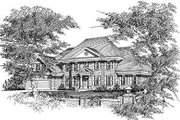European Style House Plan - 4 Beds 3 Baths 2799 Sq/Ft Plan #329-272 Exterior - Front Elevation