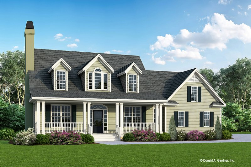 Country Exterior - Front Elevation Plan #929-509