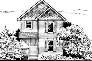 Cottage Exterior - Front Elevation Plan #50-237