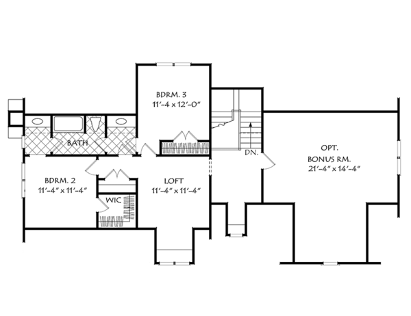European Floor Plan - Upper Floor Plan Plan #927-974