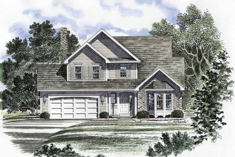 Traditional Exterior - Front Elevation Plan #316-159 - Houseplans.com