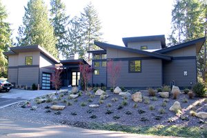 Dream House Plan - Contemporary Exterior - Front Elevation Plan #132-563