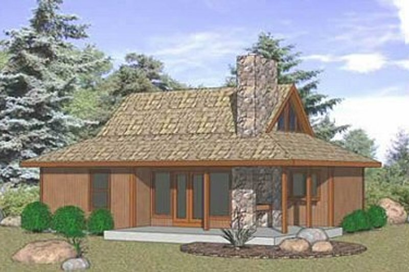 Farmhouse Style House Plan - 2 Beds 2 Baths 835 Sq/Ft Plan #116-230 Exterior - Front Elevation