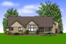 House Design - Craftsman Exterior - Rear Elevation Plan #48-548