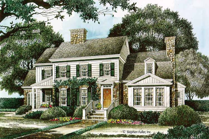 Country Exterior - Front Elevation Plan #429-339 - Houseplans.com