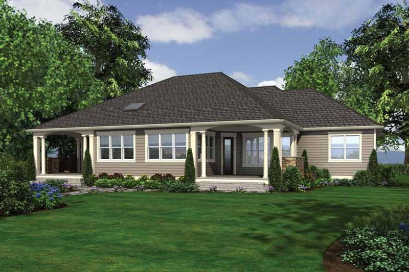 Traditional Exterior - Rear Elevation Plan #132-545 - Houseplans.com