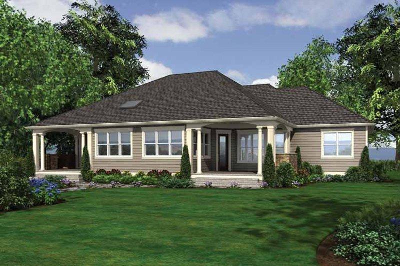 Traditional Exterior - Rear Elevation Plan #132-545 - Houseplans.com