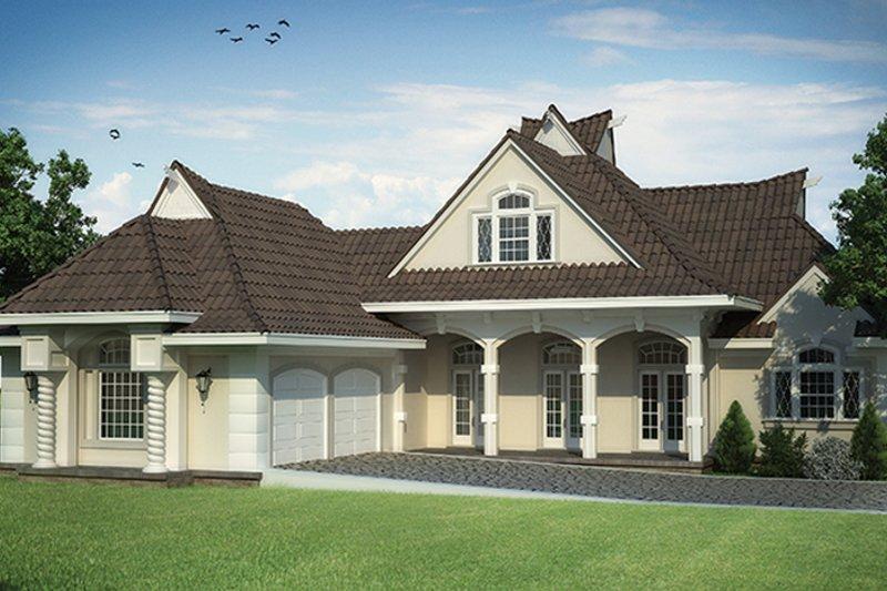 European Exterior - Front Elevation Plan #45-568 - Houseplans.com