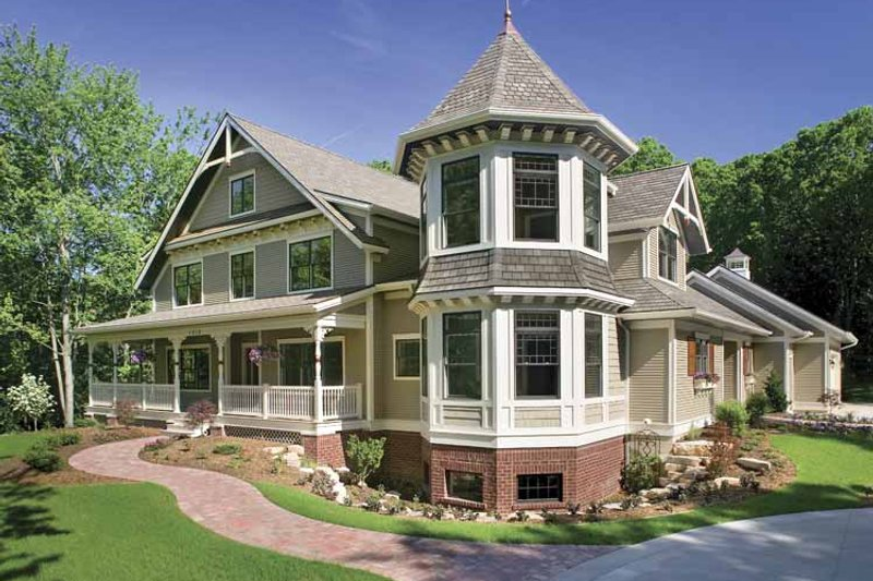 House Plan Design - Victorian Exterior - Front Elevation Plan #928-35