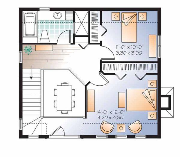 European Floor Plan - Upper Floor Plan Plan #23-2493
