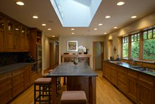 Ranch style home, craftsman detailing, kitchen plan photo