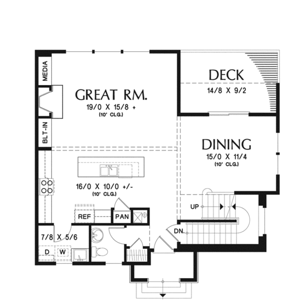 Traditional Floor Plan - Main Floor Plan Plan #48-910
