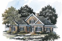 Home Plan - Colonial Exterior - Front Elevation Plan #429-219