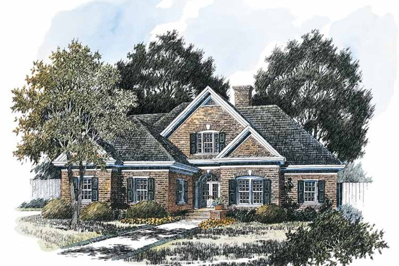 Colonial Exterior - Front Elevation Plan #429-219