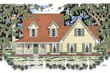 Architectural House Design - Country Exterior - Front Elevation Plan #42-597