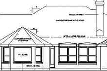 Dream House Plan - Ranch Exterior - Rear Elevation Plan #472-161